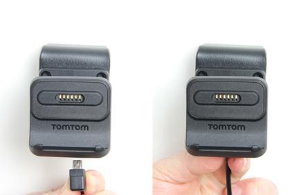 Inštalácia produktu Aktívny držiak pre GPS TomTom GO 520 New/5200/ 620/6200 Molex. Krok 3.
