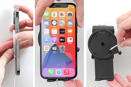 Inštalácia produktu Držiak pre Apple MagSafe Charger s kĺbom II pre iPhone 12/Pro/Max. Krok 2.