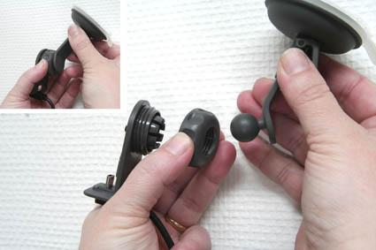 Inštalácia produktu Pasívny držiak pre GPS Mio Moov 3xx, Navman Sxx, MYxx, Becker Krok 1.