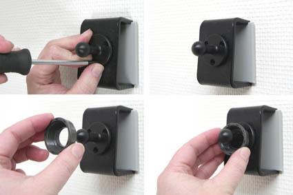 Inštalácia produktu Pasívny držiak pre GPS Mio Moov 3xx, Navman Sxx, MYxx, Becker. Krok 2.