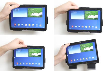 Inštalácia produktu Pasívny držiak do auta pre Samsung Galaxy Note 10.1 2014. Krok 3.