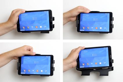 Inštalácia produktu Pasívny držiak do auta pre Samsung Galaxy Tab 4 8.0 T335. Krok 3.