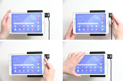 Inštalácia produktu Aktívny držiak do auta pre Huawei MediaPad T1 8.0. Krok 3.
