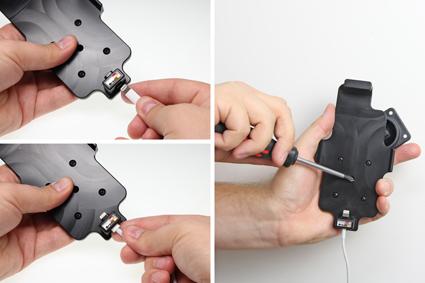 Inštalácia produktu Držiak pre Apple iPhone 6S/7/8 pre použitie s káblom/ USB s puzdro Krok 1.