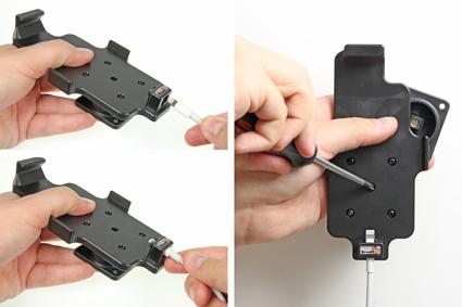 Inštalácia produktu Držiak pre Apple iPhone 6/6S/7/8 pre použitie s káblom/ 30pin s pu Krok 1.