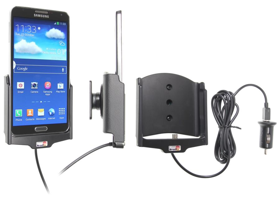 Active holder with cig plug With tilt swivel. With USB cable