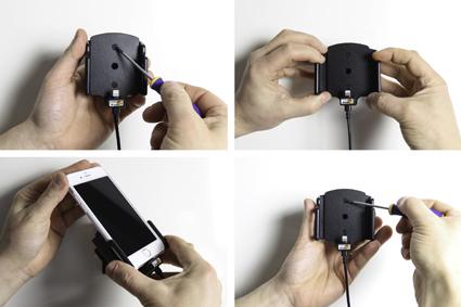 Inštalácia produktu Aktívny držiak pre Apple iPhone 6/6S/7/8/X/ Xs s tenkým puzdrom Krok 1.