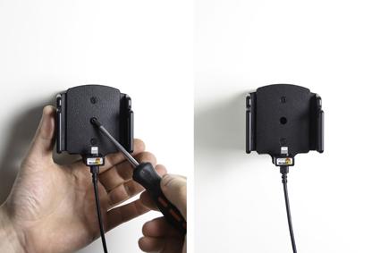 Inštalácia produktu Aktívny držiak pre Apple iPhone 6/6S/7/8/X/ Xs s tenkým puzdrom. Krok 3.