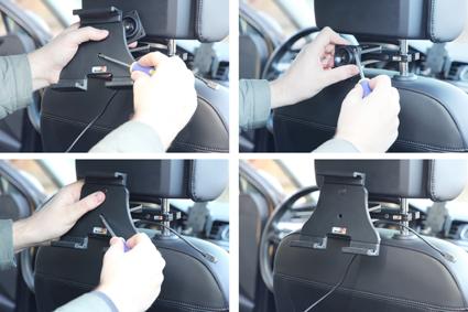 Inštalácia produktu Aktívny nastaviteľný držiak UNI pre tablet 120-150mm USB+CL. Krok 2.