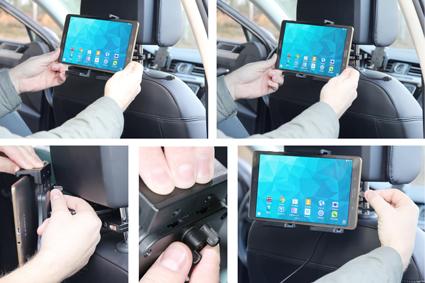 Inštalácia produktu Aktívny nastaviteľný držiak UNI pre tablet 120-150mm USB+CL. Krok 3.
