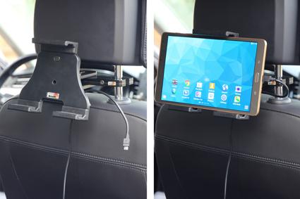 Inštalácia produktu Aktívny nastaviteľný držiak UNI pre tablet 120-150mm USB+CL. Krok 4.