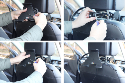 Inštalácia produktu Aktívny nastaviteľný držiak UNI pre tablet 140-195mm USB+CL. Krok 2.