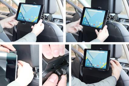 Inštalácia produktu Aktívny nastaviteľný držiak UNI pre tablet 140-195mm USB+CL. Krok 3.