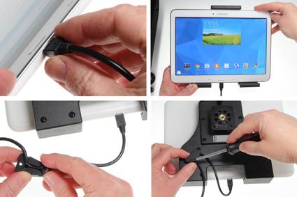 Inštalácia produktu Aktívny nastaviteľný držiak UNI pre tablet 180-230mm USB+CL Krok 1.