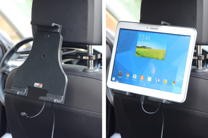 Inštalácia produktu Aktívny nastaviteľný držiak UNI pre tablet 180-230mm USB+CL. Krok 4.