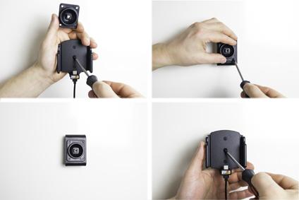 Inštalácia produktu Aktívny nastaviteľný držiak UNI -75-89mm,hrúbka 12-16mm USB-C Mol. Krok 3.