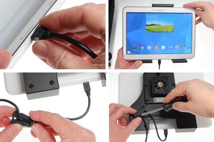 Inštalácia produktu Aktívny nastaviteľný držiak UNI pre tablet 180-230mm Molex Krok 1.
