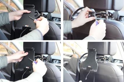 Inštalácia produktu Aktívny nastaviteľný držiak UNI pre tablet 180-230mm Molex. Krok 2.