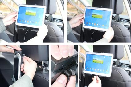 Inštalácia produktu Aktívny nastaviteľný držiak UNI pre tablet 180-230mm Molex. Krok 3.