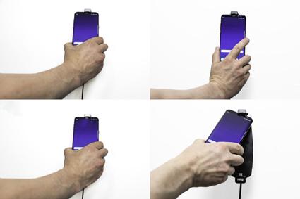 Inštalácia produktu Aktívny držiak pre Samsung Galaxy S9+/S8+ s puzdrom s Molex kon.. Krok 3.