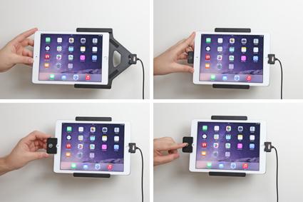 Inštalácia produktu Aktívny držiak pre Apple iPad Air 2/Pro 9.7 s uzamykaním Molex. Krok 2.