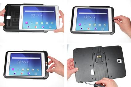 Inštalácia produktu Odolné puzdro HD pre Samsung Galaxy Tab A 9.7 T550 USB+CL Krok 1.
