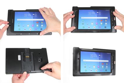 Inštalácia produktu Odolné puzdro pre Samsung Galaxy Tab E 8.0 USB+CL Krok 1.