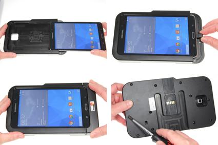 Inštalácia produktu Odolné puzdro HD pre Samsung Galaxy Tab 4 7.0 Molex Krok 1.