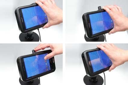 Inštalácia produktu Odolné puzdro HD pre Samsung Galaxy Tab 4 7.0 Molex. Krok 3.