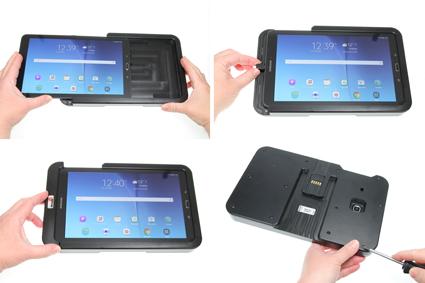 Inštalácia produktu Odolné puzdro HD pre Samsung Galaxy Tab E 9.6 T560 Molex Krok 1.