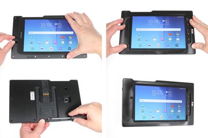 Inštalácia produktu Odolné puzdro pre Samsung Galaxy Tab E 8.0 Molex Krok 1.