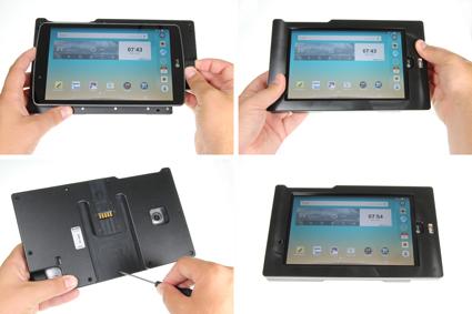 Inštalácia produktu Odolné puzdro pre LG G Pad F 8.0 Molex Krok 1.