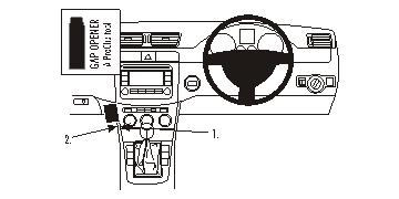 Passat Alltrack 12-15 /& Passat CC 09-17 Black Brodit 653652 Proclip Angled Mount for Volkwagen Passat 05-14