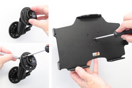Inštalácia produktu Pasívny držiak do auta pre Samsung Galaxy Tab A 10.1 2019. Krok 2.