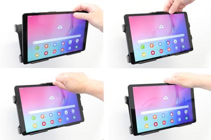 Inštalácia produktu Pasívny držiak do auta pre Samsung Galaxy Tab A 10.1 2019. Krok 3.