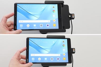 Inštalácia produktu Aktívny držiak do auta pre Huawei MediaPad M5 8.4 USB+CL. Krok 2.