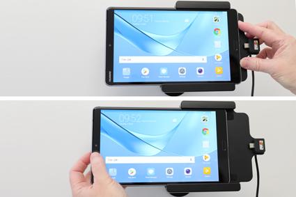 Inštalácia produktu Aktívny držiak do auta pre Huawei MediaPad M5 8.4 USB+CL. Krok 3.