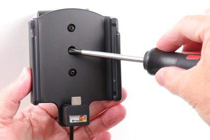 Inštalácia produktu Aktívny držiak pre Samsung Galaxy A20e A202 USB+CL. Krok 3.