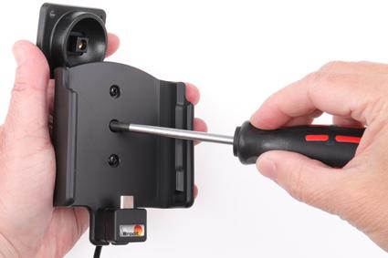 Inštalácia produktu Aktívny držiak pre Samsung Galaxy A50 A505 USB+CL Krok 1.