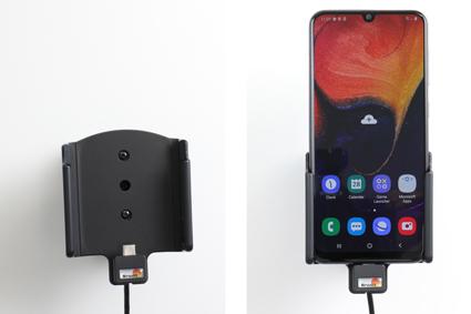 Inštalácia produktu Aktívny držiak pre Samsung Galaxy A50 A505 USB+CL. Krok 4.