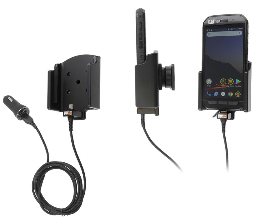 Qi wireless active holder with cig-plug With USB-A cable