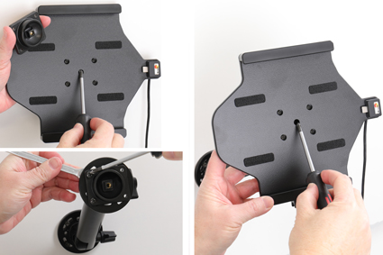 Inštalácia produktu Aktívny držiak do auta pre Samsung Galaxy Tab S6 10.5 USB+CL Krok 1.