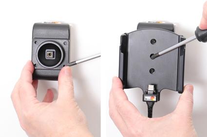 Inštalácia produktu Aktívny držiak pre Samsung Galaxy Xcover Pro G715 USB+CL Magnet. Krok 3.