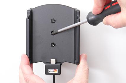 Inštalácia produktu Aktívny držiak pre Samsung Galaxy S20/S21 Ultra G988 USB+CL. Krok 3.
