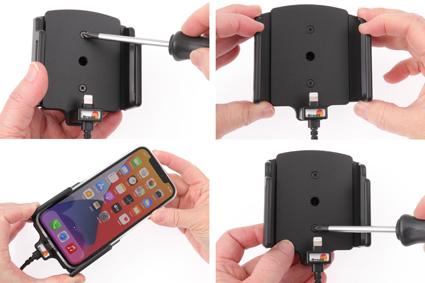 Inštalácia produktu Aktívny držiak pre Apple iPhone 12, iPhone 12 Pro s puzdrom Krok 1.