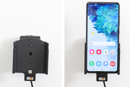 Inštalácia produktu Aktívny držiak pre Samsung Galaxy S20 FE G780 USB+CL. Krok 4.