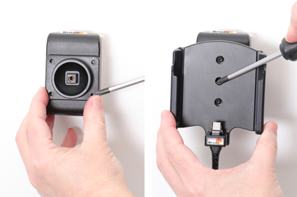 Inštalácia produktu Aktívny držiak pre Samsung Galaxy Xcover Pro G715 Molex Magnet. Krok 3.