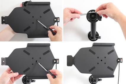 Inštalácia produktu Aktívny držiak pre Samsung Galaxy Tab A7 10.4 s uzam. s Molex Krok 1.