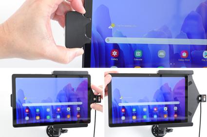 Inštalácia produktu Aktívny držiak pre Samsung Galaxy Tab A7 10.4 s uzam. s Molex. Krok 3.