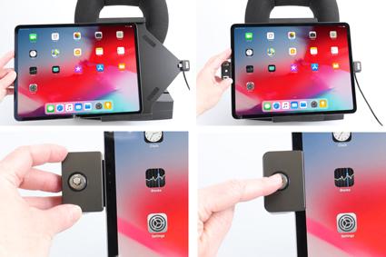 Inštalácia produktu Aktívny držiak pre Apple iPad Pro 12.9 2018/ 2020 s uzamykaním. Krok 2.